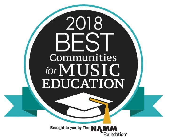 2018 Pittsford recognized as one of the Best Communities for Music Education.