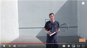 Training on a Tennis Wall