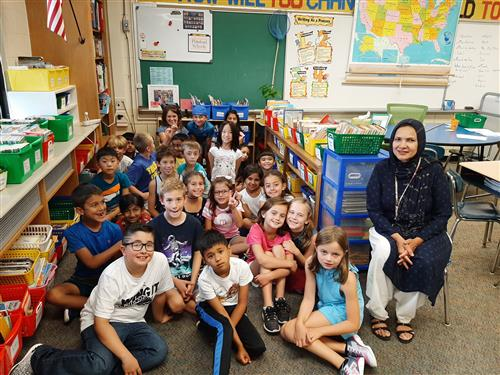 MRs. Carpin's students with Mrs. Shaikh