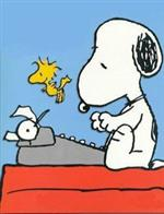 typing Snoopy