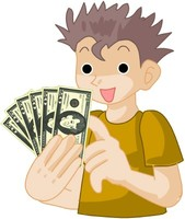 boy with money