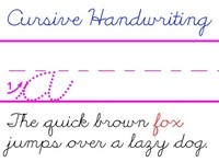 Cursive Writing Example