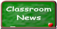 Chalkboard with heading classroom news