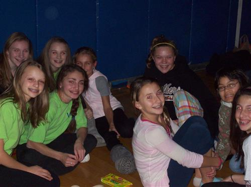 WEB Leaders at the 6th grade movie night
