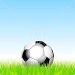 Soccer ball on grass - athletic green projects