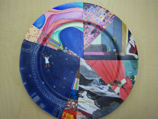 collage on plate