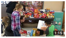 Pittsford students sort food donations