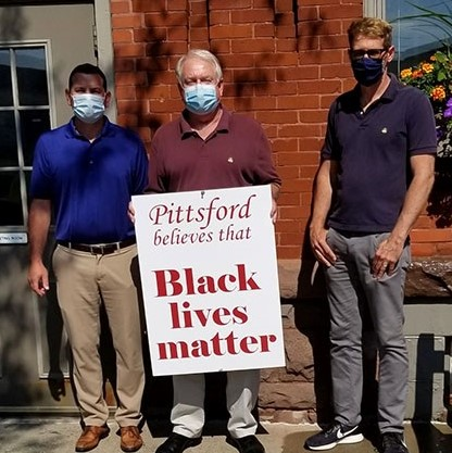 Pittsford Raises Banner in Support of Equity