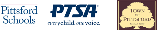 PCSD, PTSA and Town of Pittsford logos