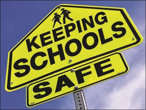 Sign with the words Keeping Schools Safe