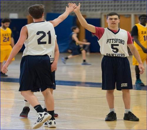 Unified Basketball Players High Five