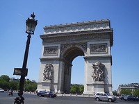 L'arc de Triopmhe, Paris